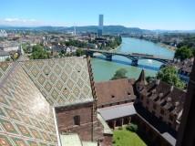 Wettsteinbrücke (bridge), the Rhine and the Roche tower