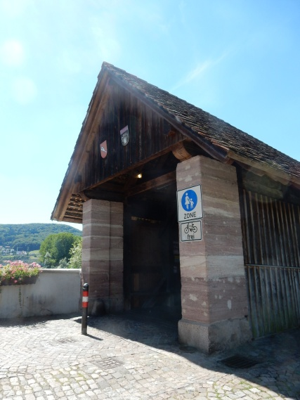 Bridge entrance on the Swiss side