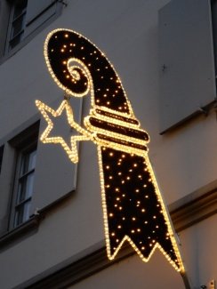 Christmas lighting in Kleinbasel