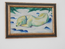 Franz Marc, Liegender Hund im Schnee [Dog Lying in the Snow] (1910–11)