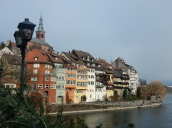 The German side viewed from the bridge
