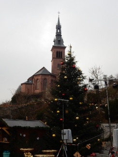 Christmas market on the German side