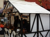 Mediaeval stand with hot mead