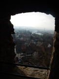 View from Laufenburg castle ruins