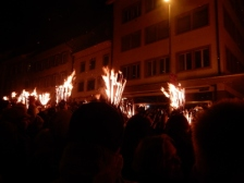Fire parade in Liestal