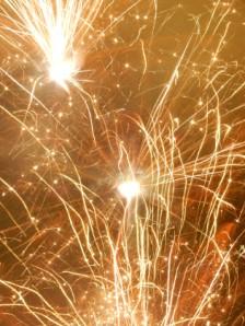 Ashton lane Hogmanay Street Party fireworks