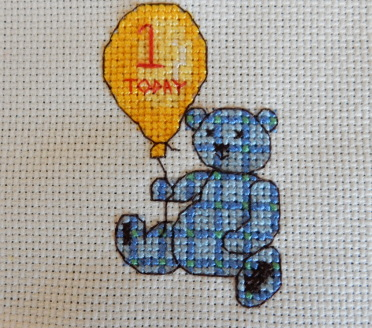 teddy cross stitch