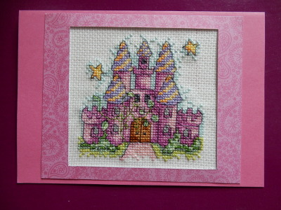 fairytale castle card