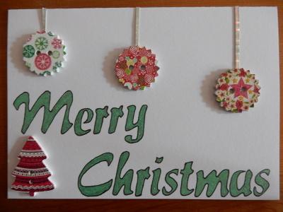 Christmas button card