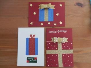 glitter tape cards