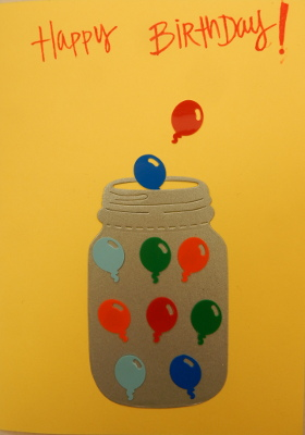 balloon jar birthday card