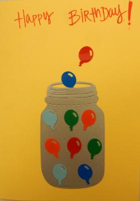 balloon jar birthday card