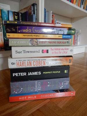 8-book pile