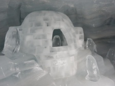 Jungfrau ice sculptures