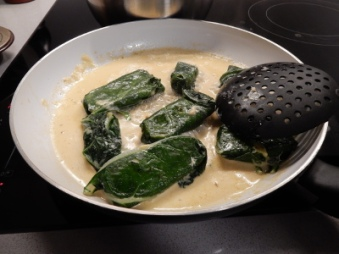 Capuns cooking